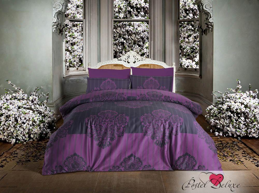 Купить Комплекты постельного белья Altinbasak, Постельное белье Barok Цвет: Фиолетовый (2 сп. евро), Турция, Хлопковый сатин
