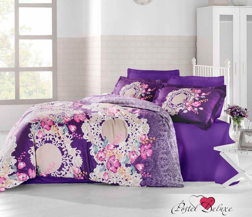 Купить Комплекты постельного белья Altinbasak, Постельное белье Elvin Цвет: Фиолетовый (2 сп. евро), Турция, Хлопковый сатин