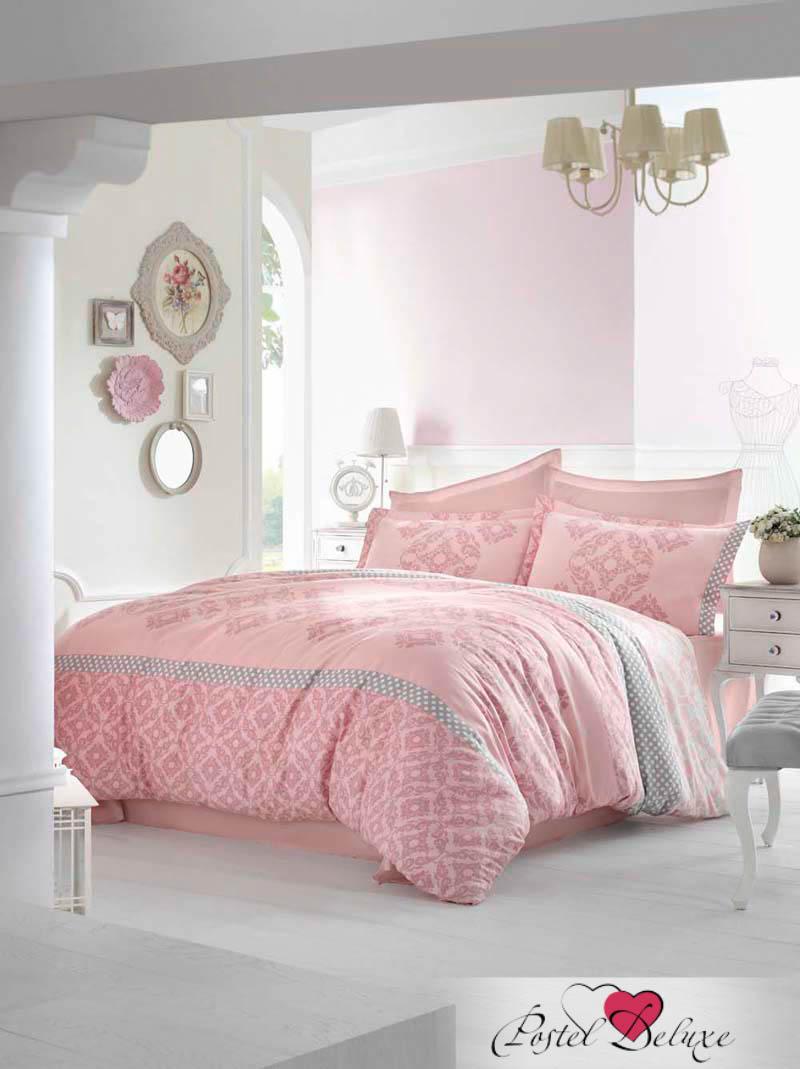 Купить Комплекты постельного белья Altinbasak, Постельное белье Alona Цвет: Розовый (2 сп. евро), Турция, Хлопковый сатин