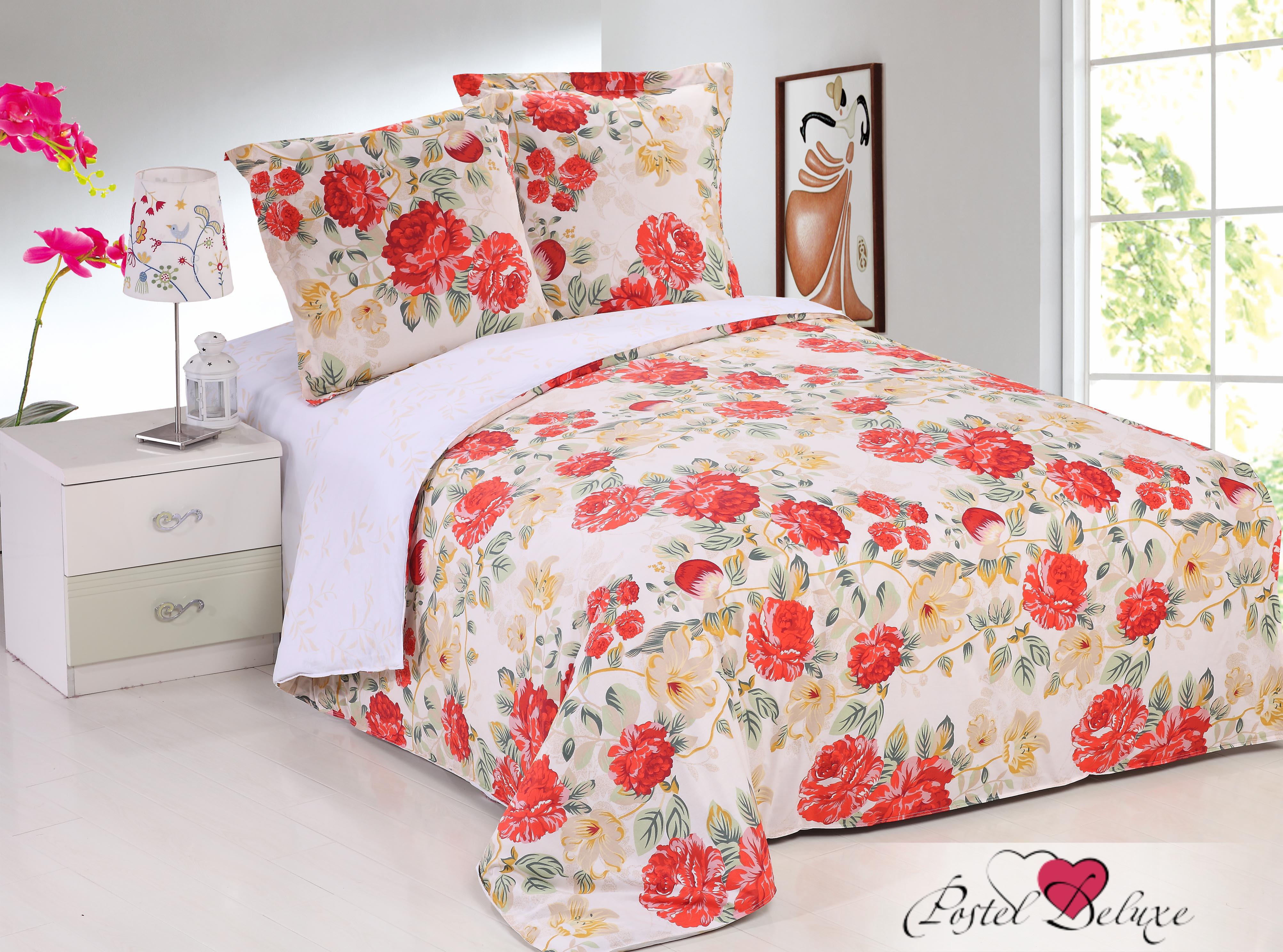 Купить Комплекты постельного белья Amore Mio, Постельное белье Веста(2 сп. евро), Китай, Красный, Персиковый, Розовый, Поплин
