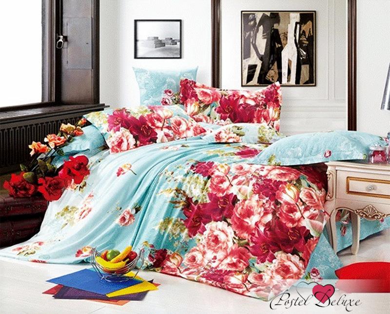 Купить Комплекты постельного белья Amore Mio, Постельное белье Мечта (2 сп. евро), Китай, Голубой, Розовый, Хлопковый сатин