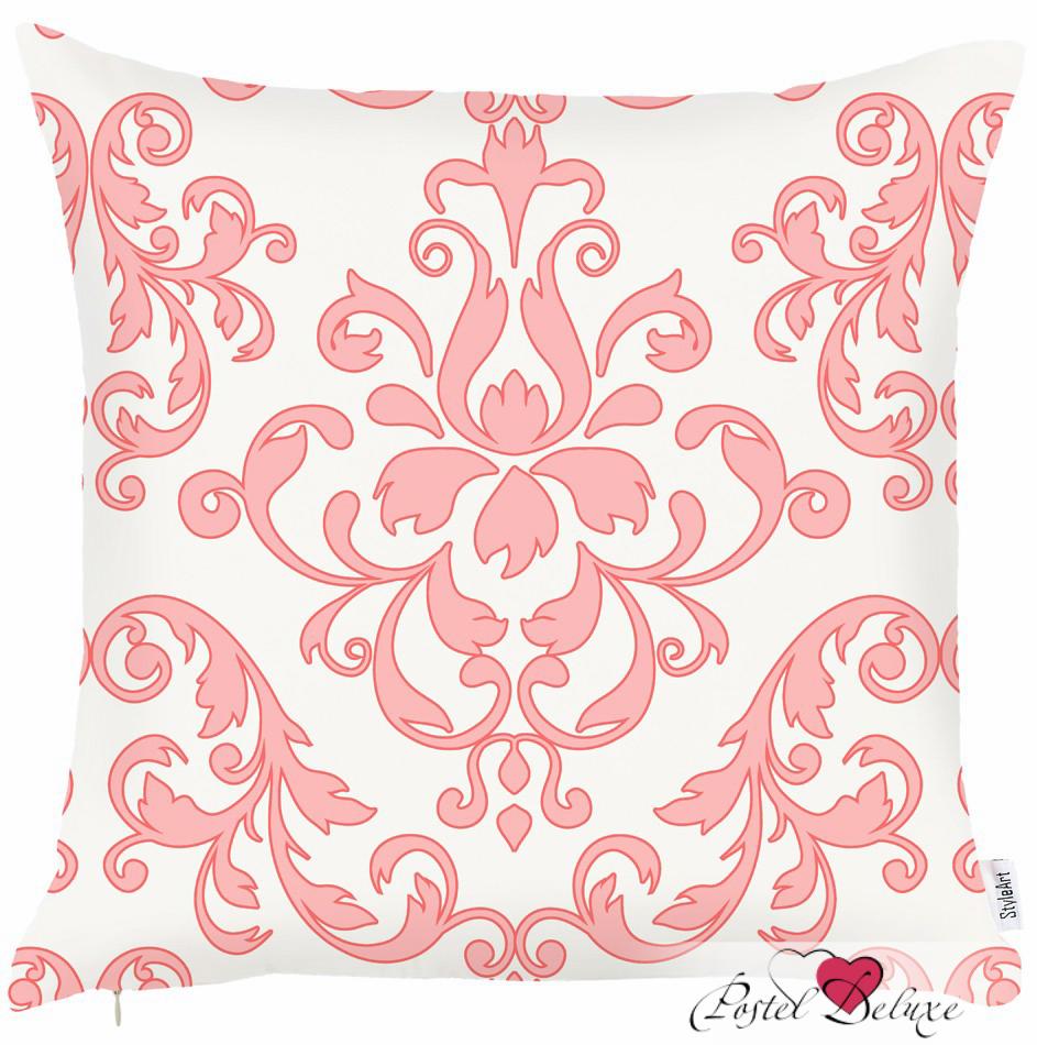 Купить Декоративные подушки Apolena, Декоративная наволочка Fresh Rose (45х45), Россия-Турция, Белый, Розовый, Микрофибра
