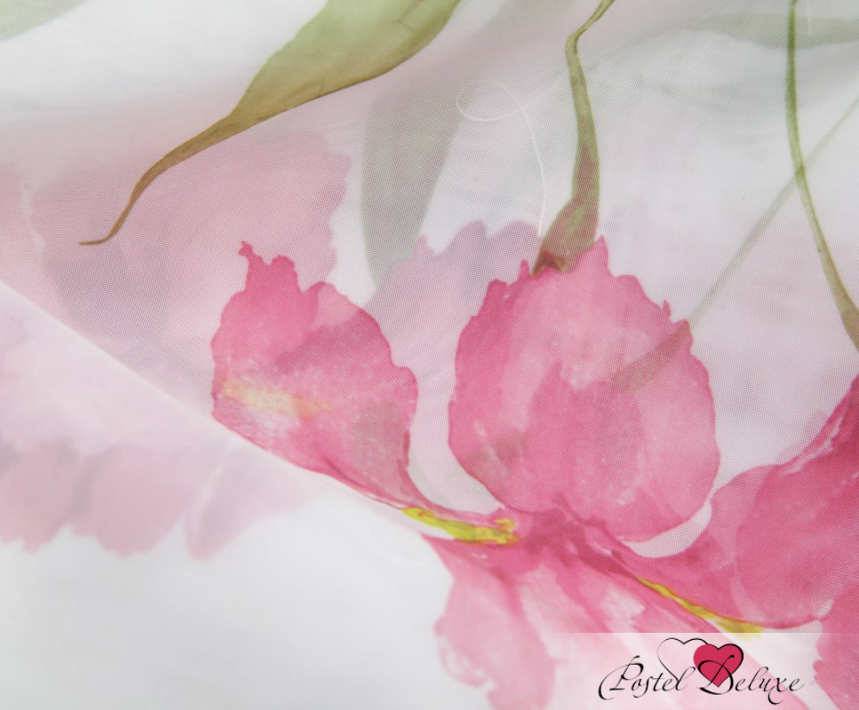 Шторы Apolena, Классические шторы Iris, Россия-Турция, Розовый, Вуаль  - Купить