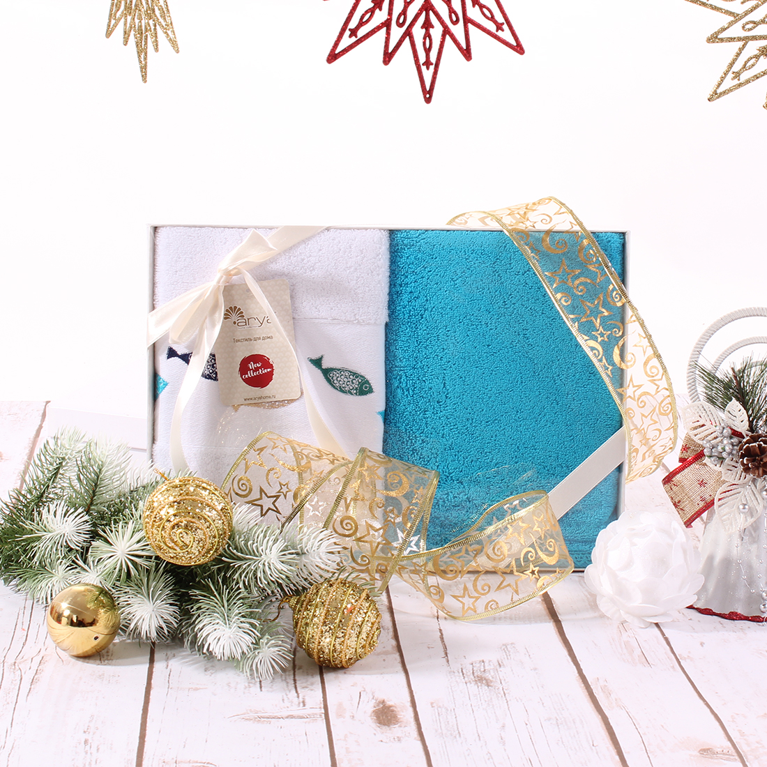 Полотенца Arya Полотенце Melis Цвет: Экрю, Голубой (50х90 см - 2 шт)