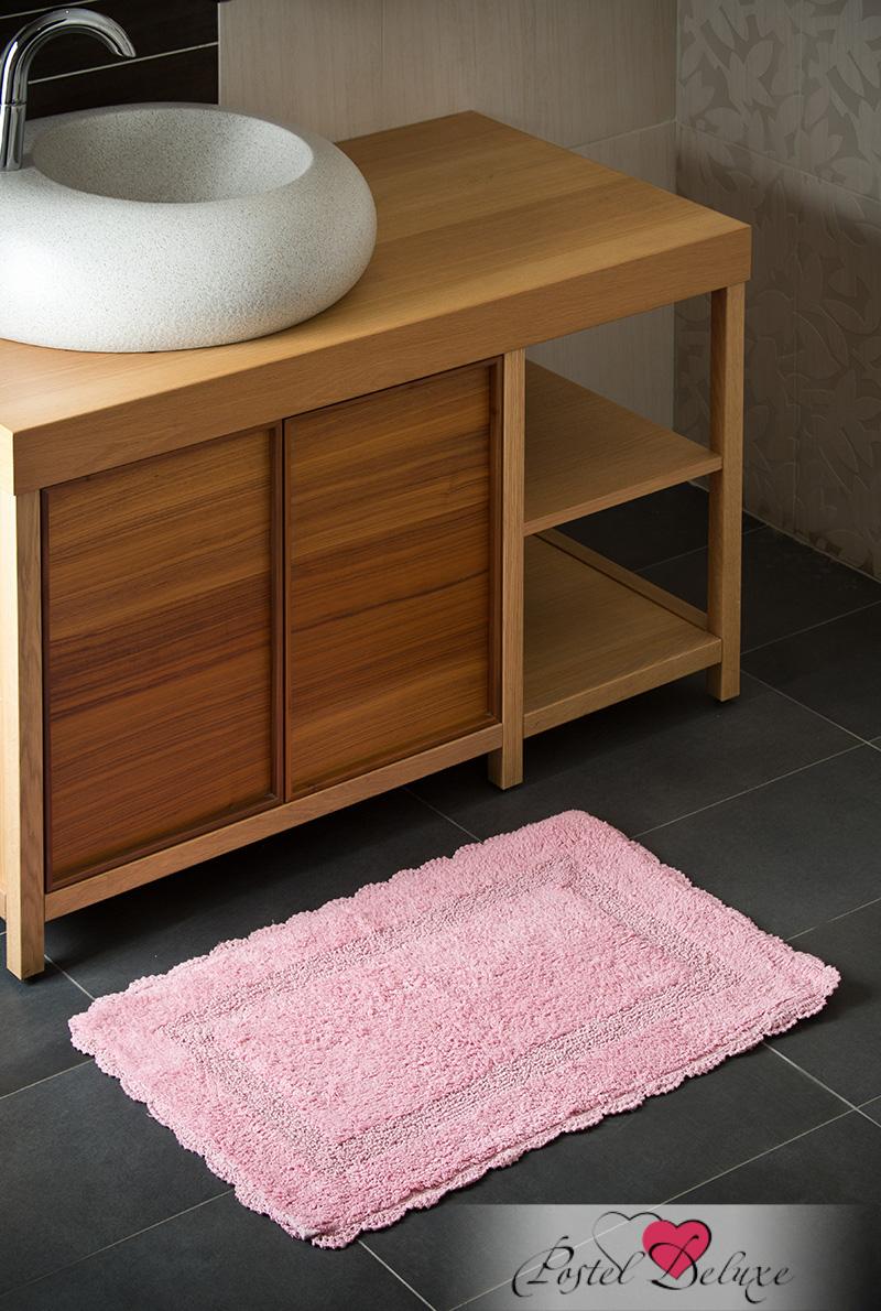 Купить Коврики для ванной и туалета Arloni, Коврик для ванной Лейс Цвет: Лотос (50х80 см), Индия, Розовый, Махра