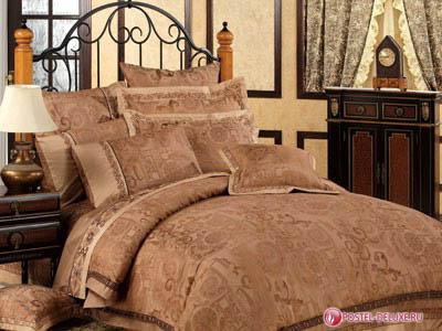 где купить Комплекты постельного белья Asabella Постельное белье Turina(2 сп. евро) по лучшей цене