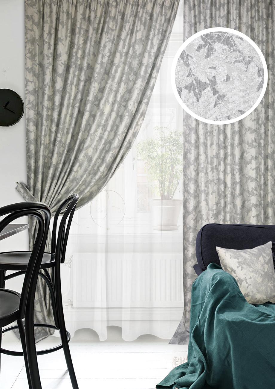 Классические шторы Ursula Цвет: Серый фото