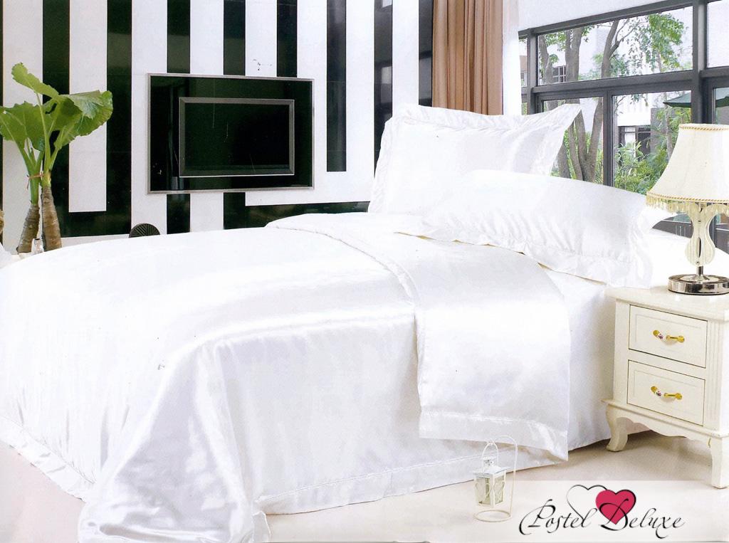 Купить Комплекты постельного белья SL, Постельное белье Alia (2 сп. евро), Китай, Белый, Атласный шелк