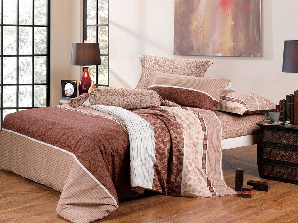 Купить Комплекты постельного белья СайлиД, Постельное белье Monica B-102 (2 сп. евро), Китай, Хлопковый сатин