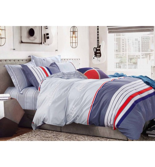 Купить Комплекты постельного белья SL, Постельное белье Addison (2 спал.), Китай, Красный, Серый, Синий, Сиреневый, Фиолетовый, Хлопковый сатин