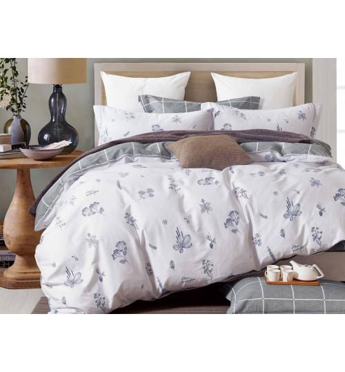 Купить Комплекты постельного белья SL, Постельное белье Quincy (семейное), Китай, Бежевый, Серый, Хлопковый сатин