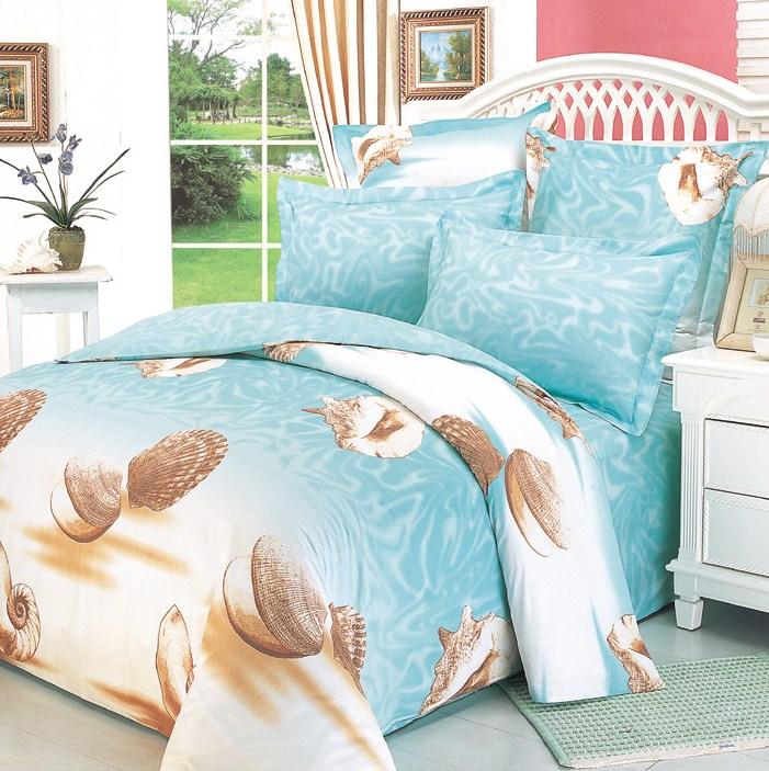 Купить Комплекты постельного белья СайлиД, Постельное белье Marlen B-15 (2 сп. евро), Китай, Голубой, Хлопковый сатин