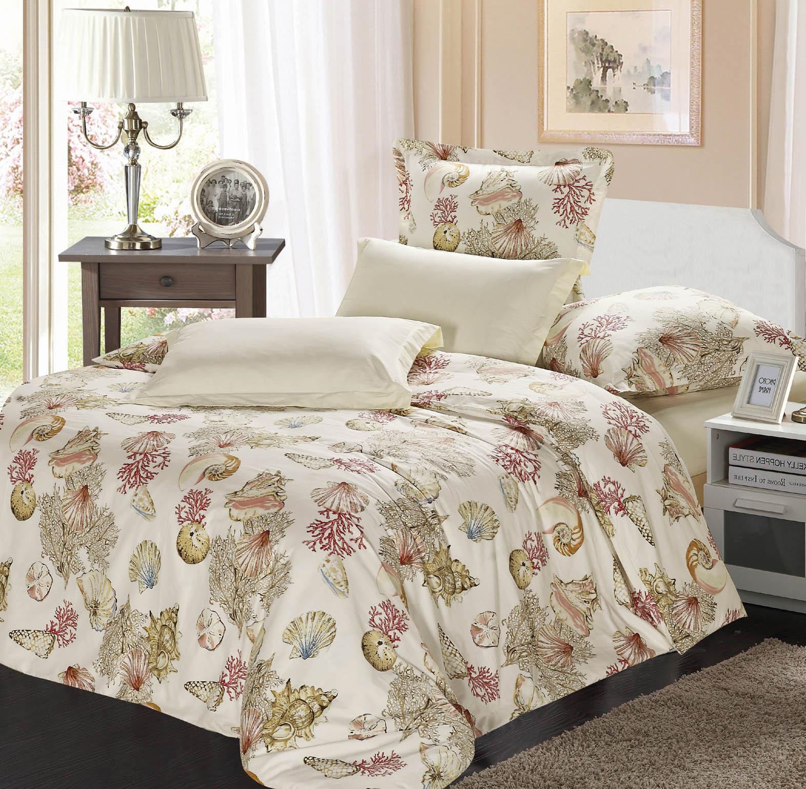 Купить Комплекты постельного белья СайлиД, Постельное белье Thalia B-156 (2 сп. евро), Китай, Бежевый, Хлопковый сатин