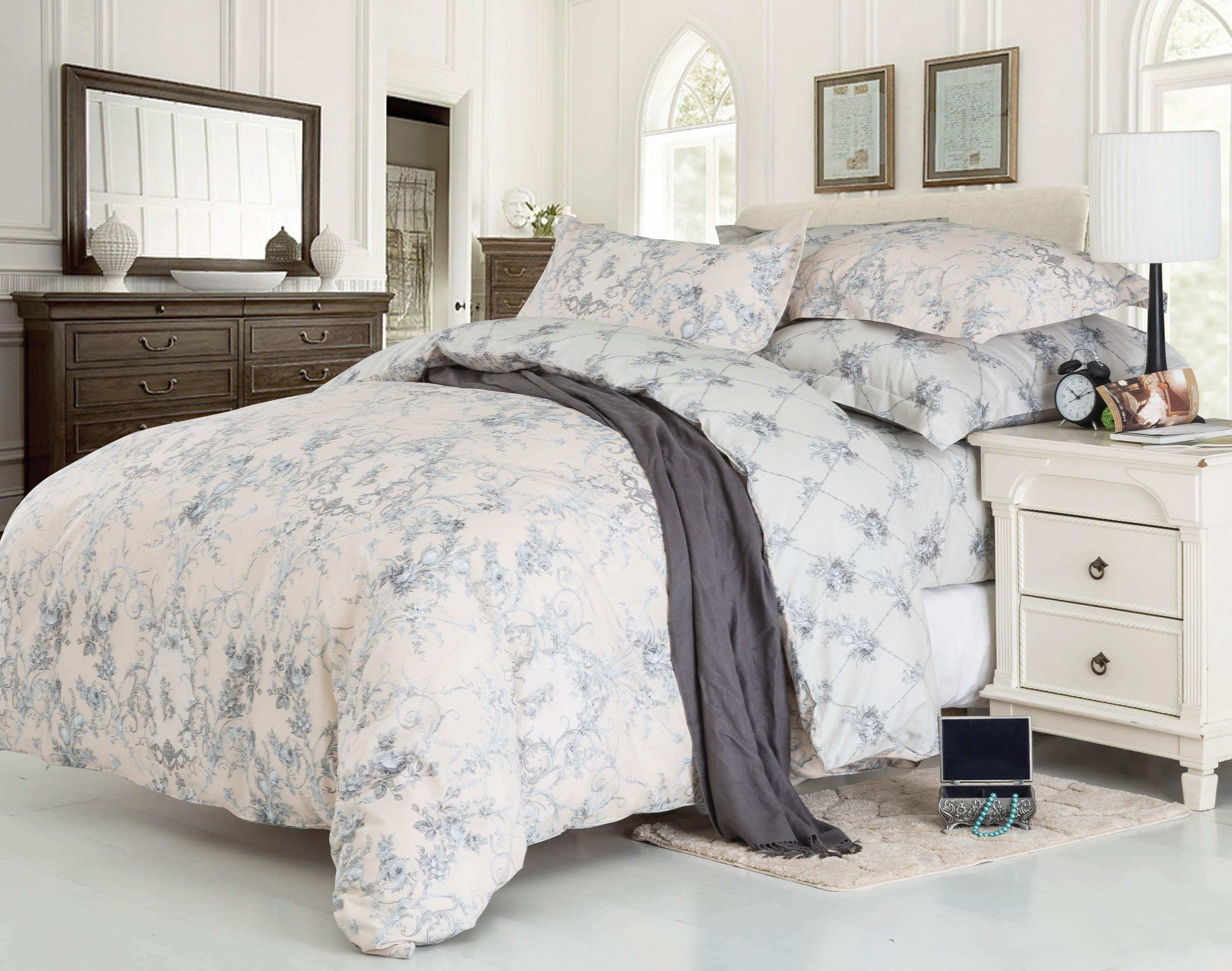 Купить Комплекты постельного белья СайлиД, Постельное бельеNoemi B-177(2 спал.), Китай, Голубой, Хлопковый сатин