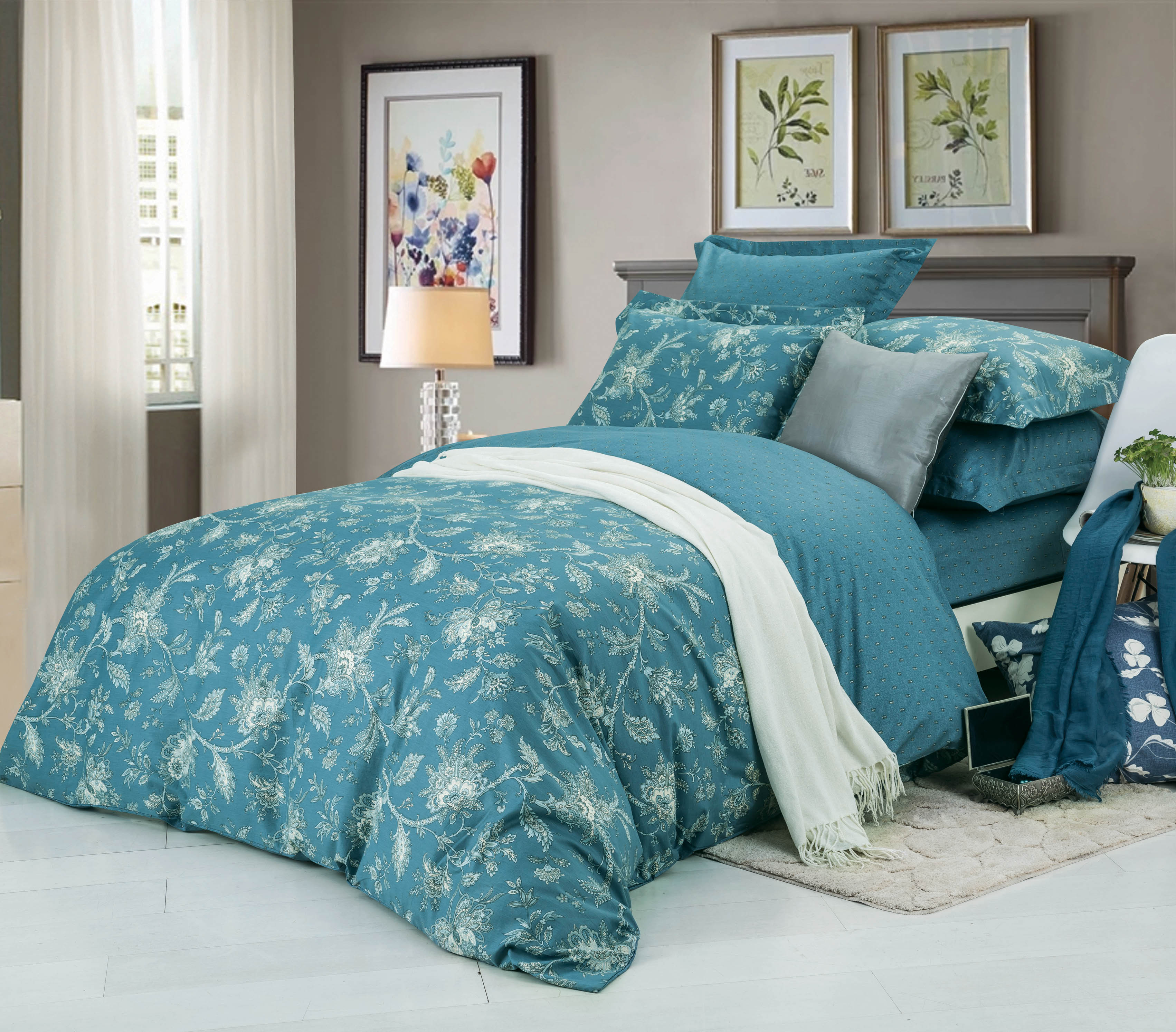Купить Комплекты постельного белья СайлиД, Постельное бельеRope B-180(семейное), Китай, Зеленый, Хлопковый сатин