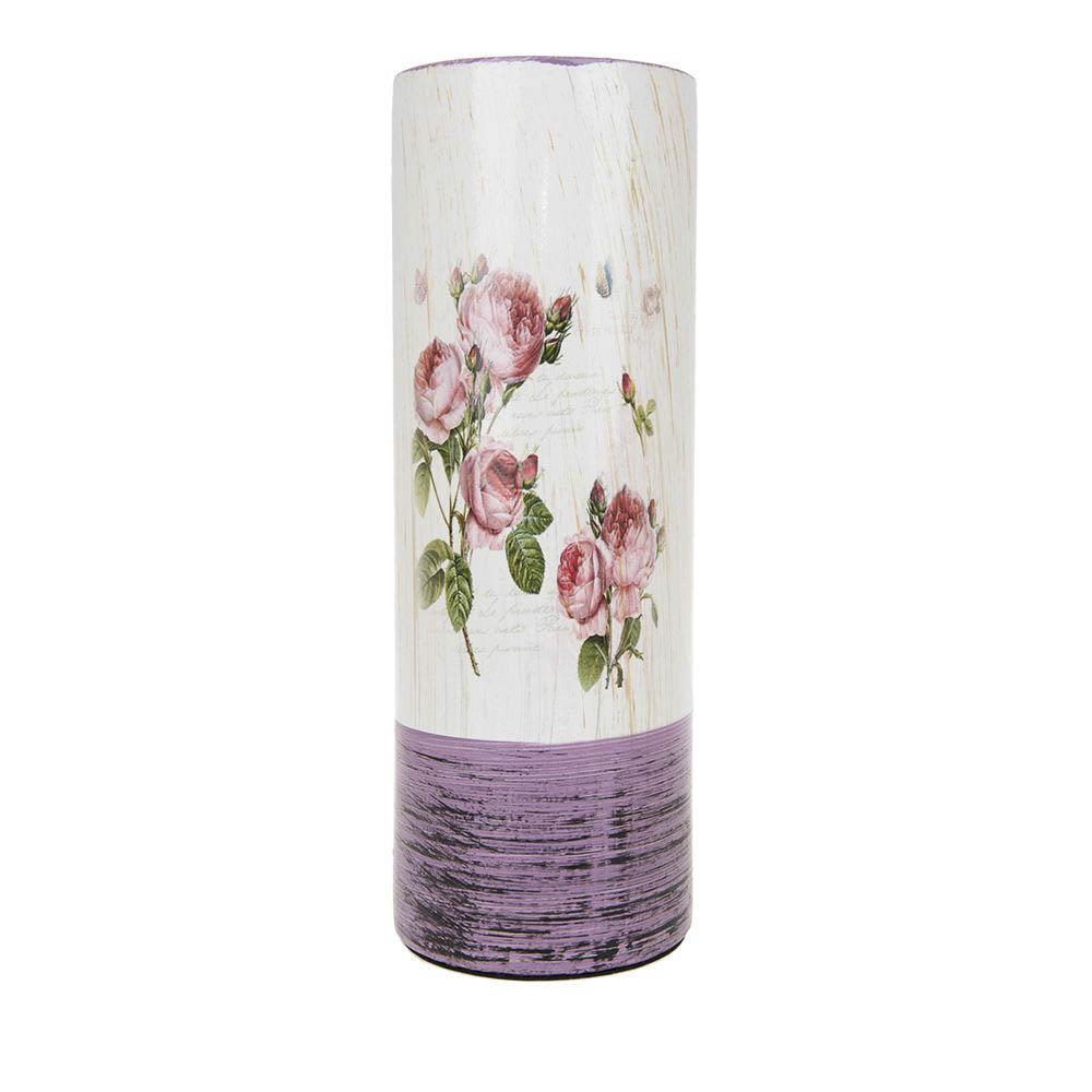 Вазы ArtHouse Ваза для цветов Кустовая Роза (10х10х29 см) вазы pavone ваза дикая роза