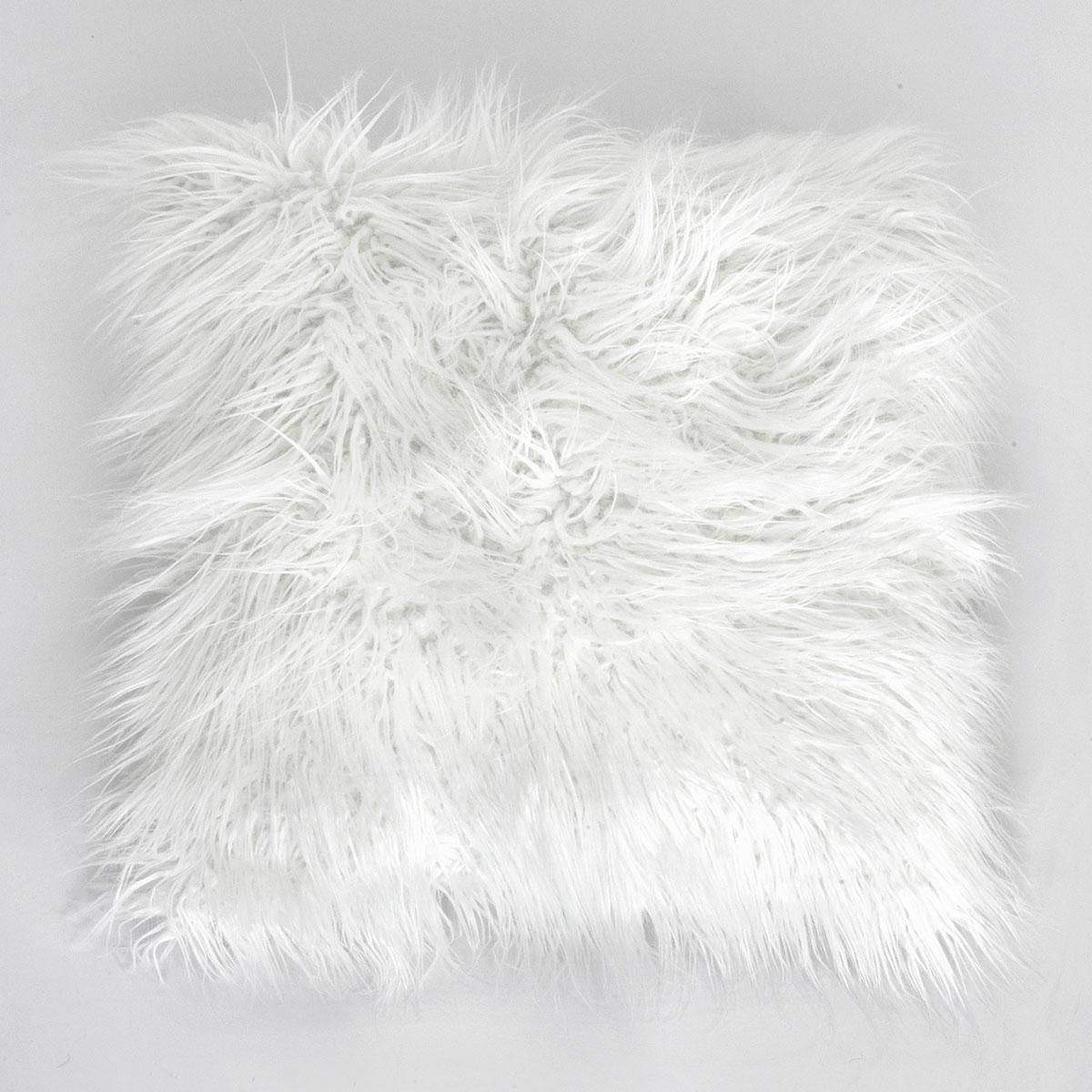 Купить Декоративные подушки Arya, Декоративная наволочка Vivense Цвет: Экрю (45х45), Турция, Искусственный мех