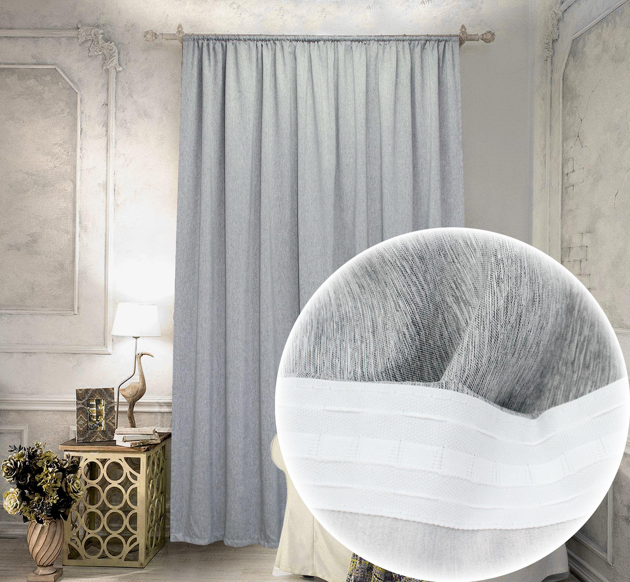 Купить Шторы Amore Mio, Классические шторы Cherice Цвет: Серый, Китай, Портьерная ткань