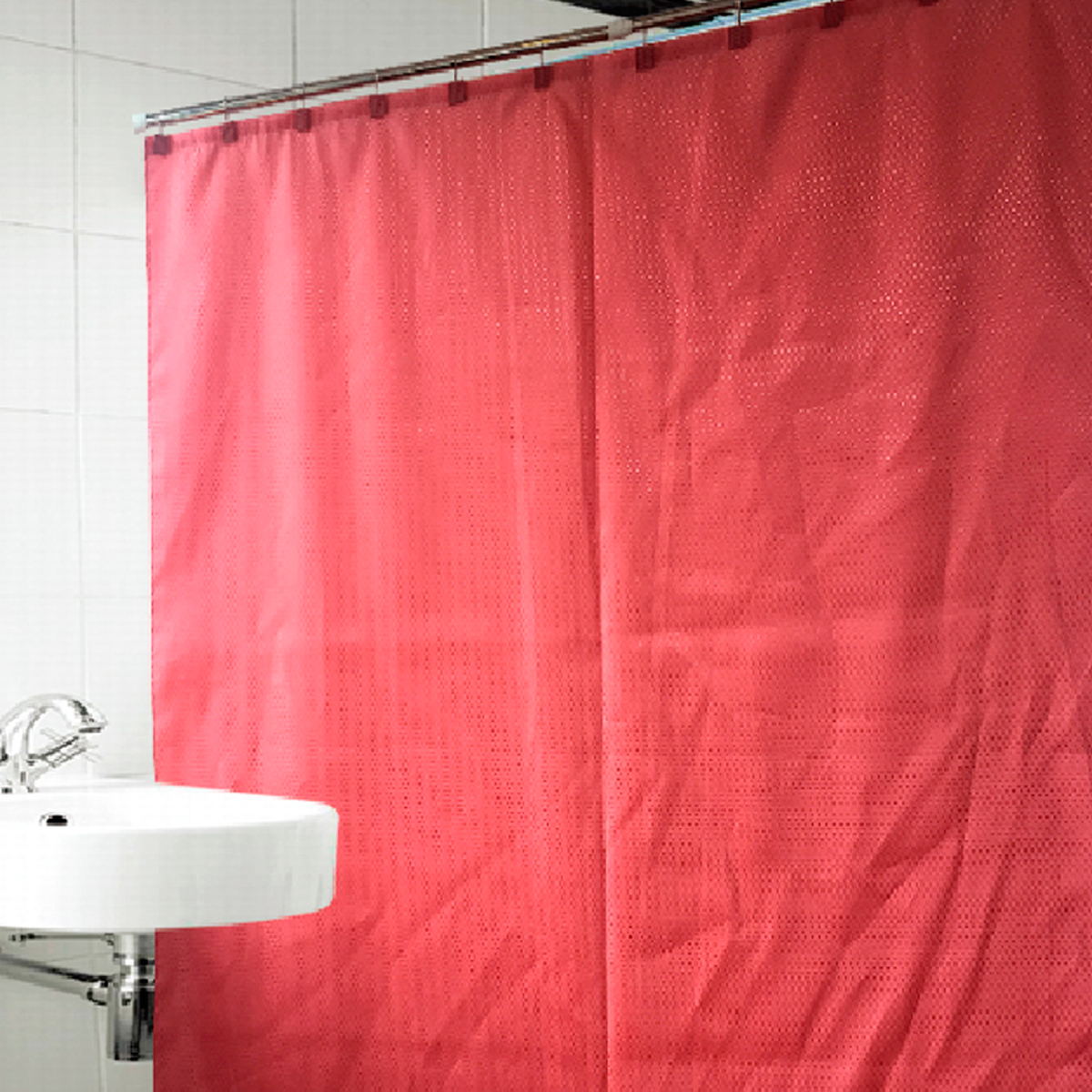Купить Шторы и карнизы Arya, Шторы для ванной Celeste Цвет: Розовый, Турция, Красный, Полиэстер