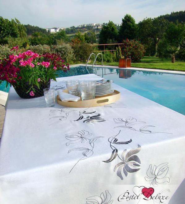 Скатерть Лилия Цвет: Белый (160х180 см) фото