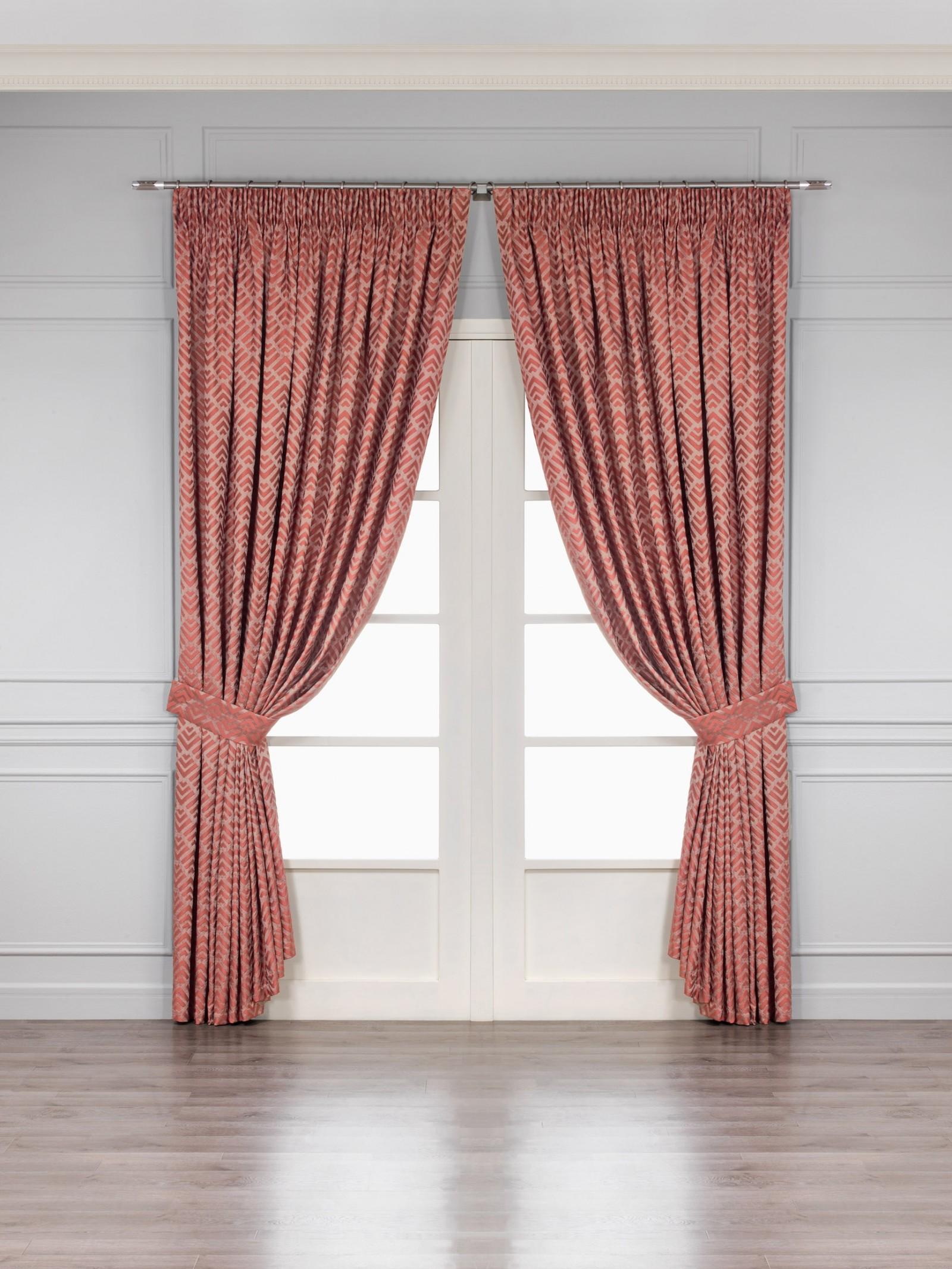 Купить Шторы Togas, Классические шторы Брукс Цвет: Бордовый, Греция, Портьерная ткань