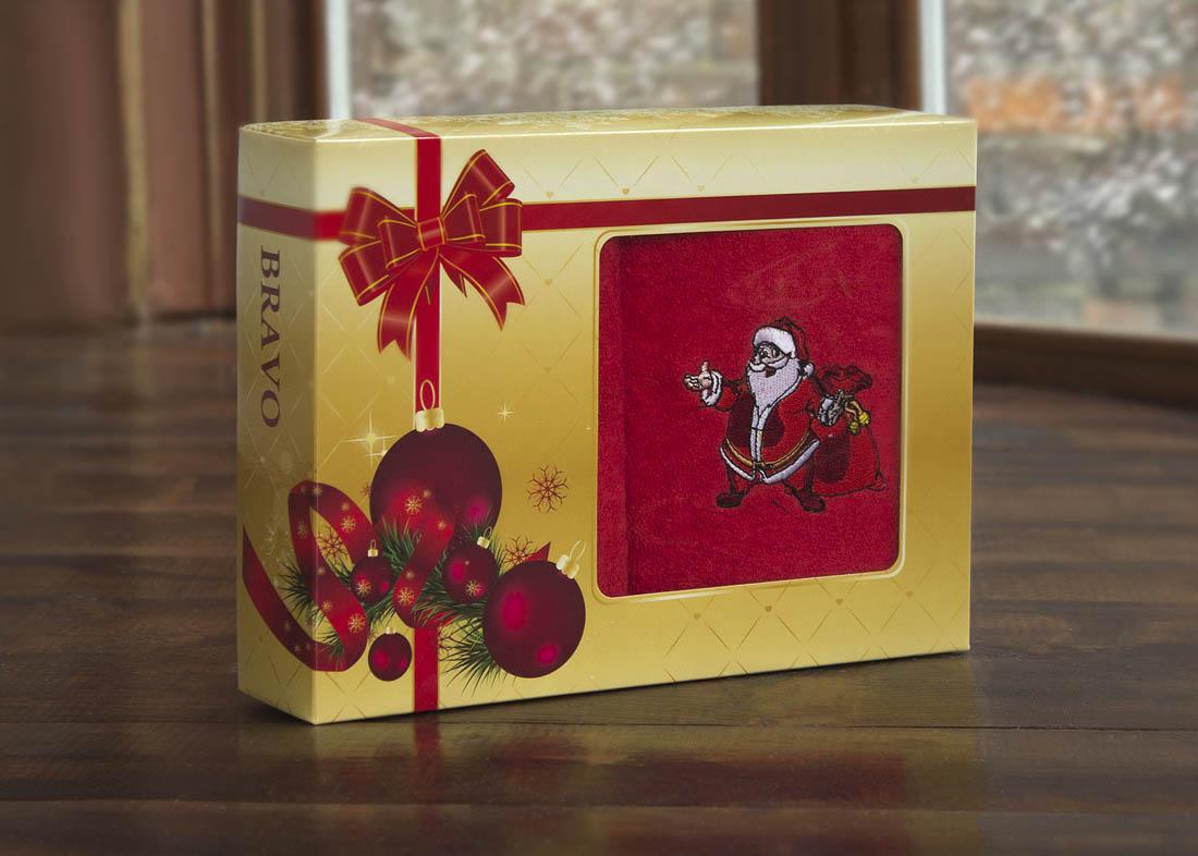 Купить Полотенца BRAVO, Полотенце С Новым Годом! Цвет: Красный (40х60 см - 2 шт), Россия, Махра