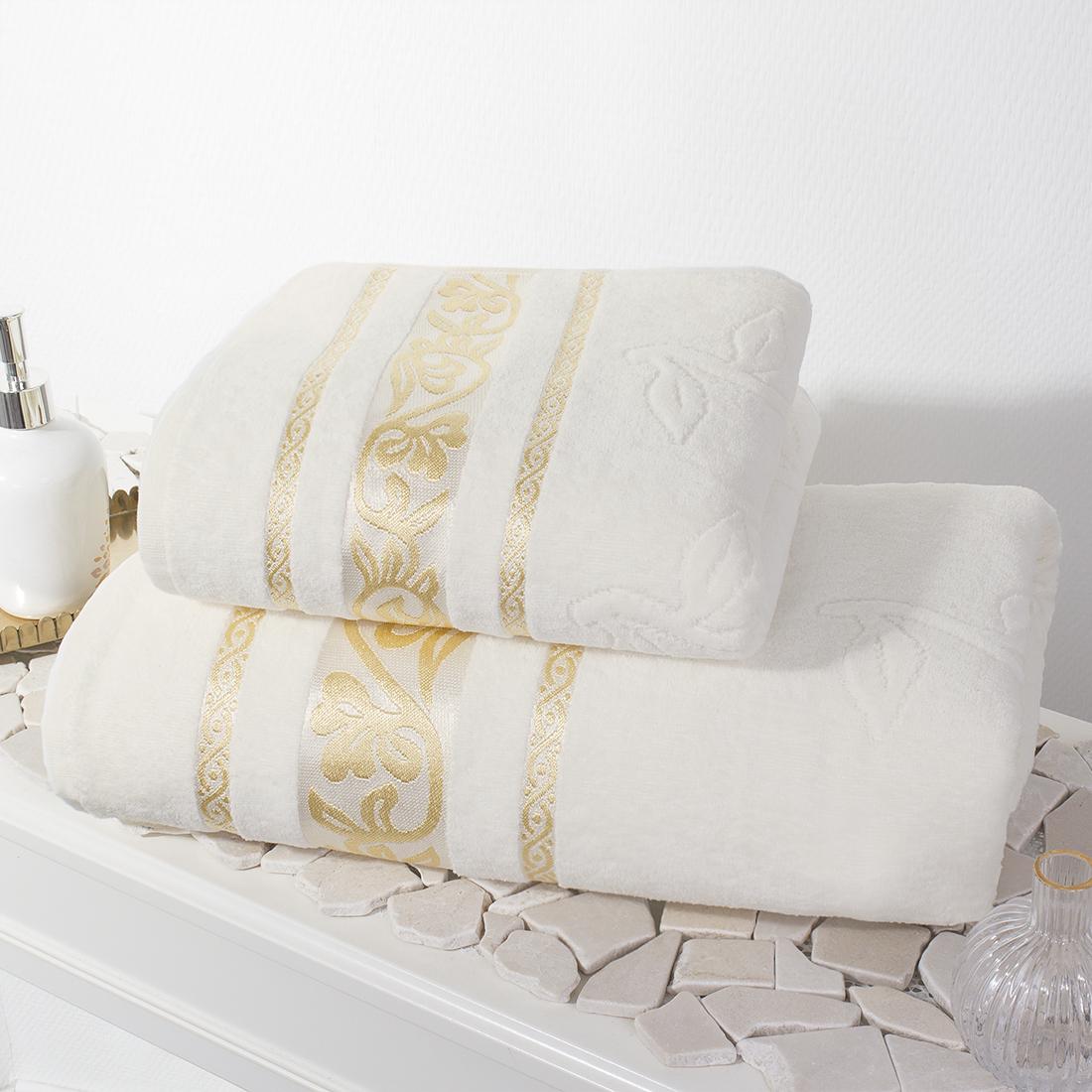 Полотенца Belezza Полотенце Либерти Цвет: Светло-Кремовый (50х80 см,70х130 см)