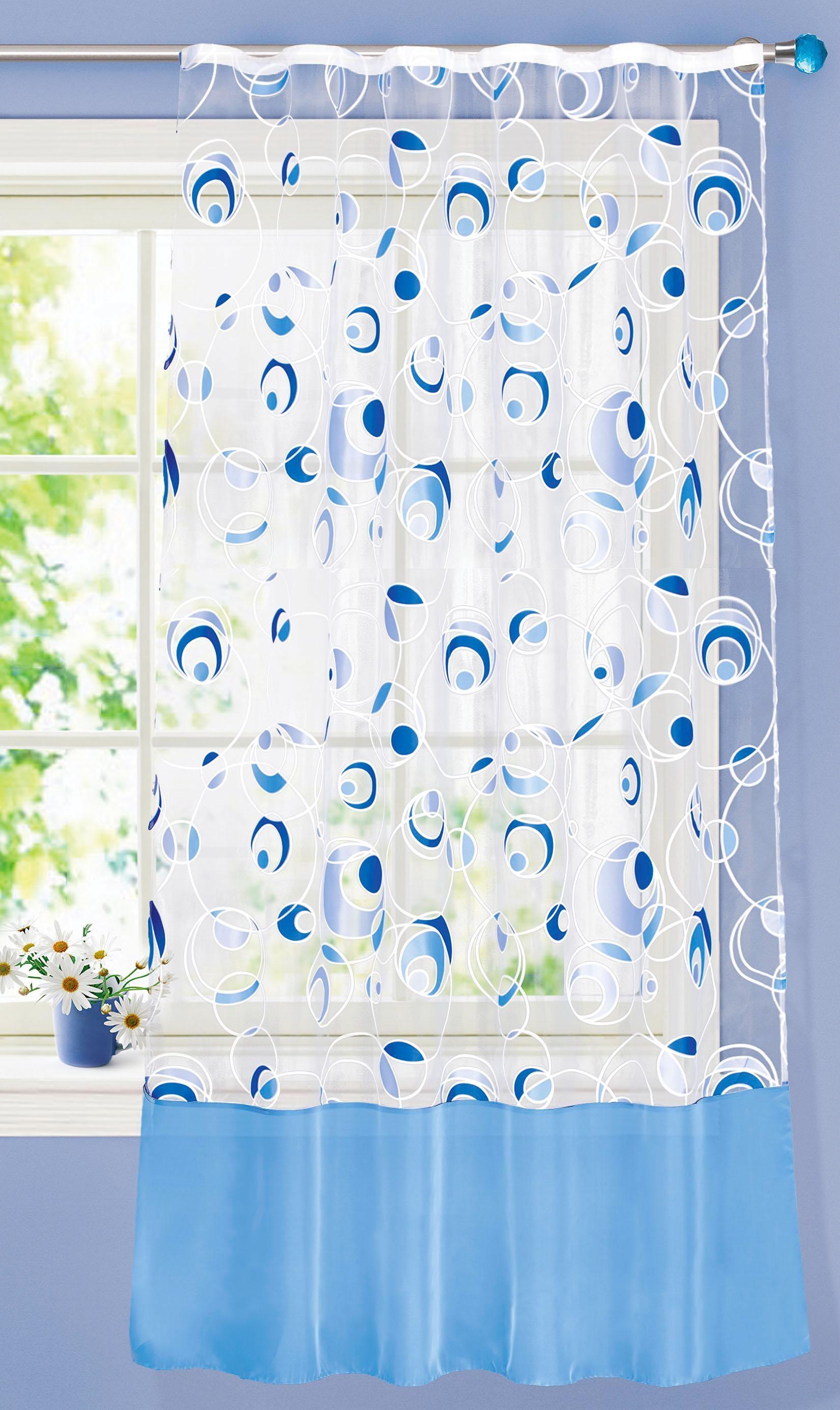 Купить Шторы Garden, Классические шторы Jaylee Цвет: Голубой, Турция, Органза