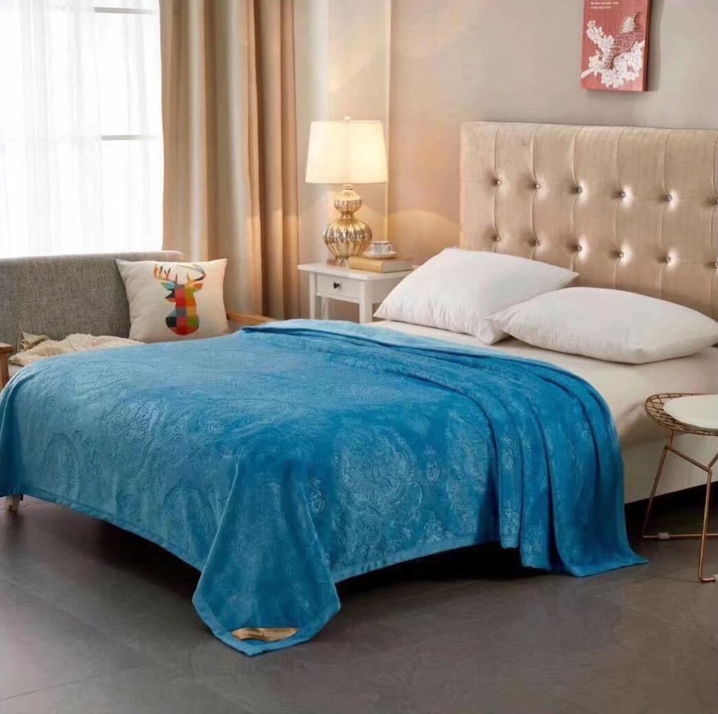 Купить Пледы и покрывала Tango, Плед Chasity (200х220 см), Китай, Голубой, Синтетическая фланель