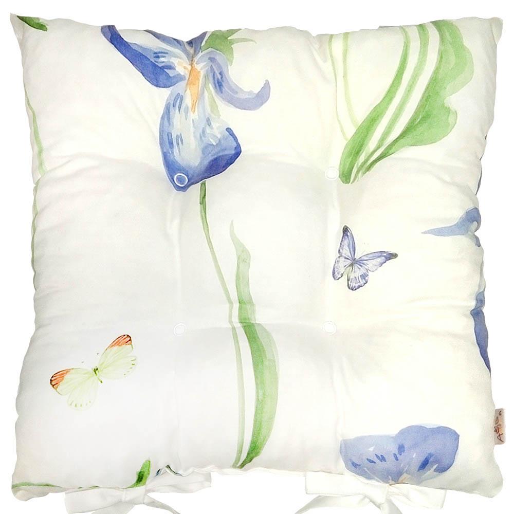 Купить Декоративные подушки Apolena, Подушка на стул Grand Iris (40х40), Россия-Турция, Поликоттон