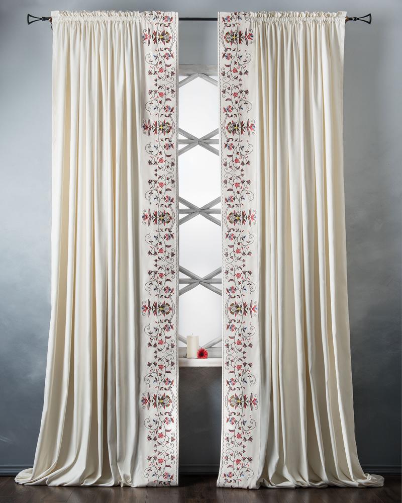 Купить Шторы PASIONARIA, Классические шторы Лея Цвет: Белый, Россия, Бархат