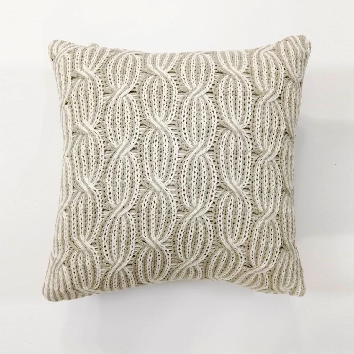 Купить Декоративные подушки Arya, Декоративная наволочка Sia (45х45), Турция, Вязаный акрил