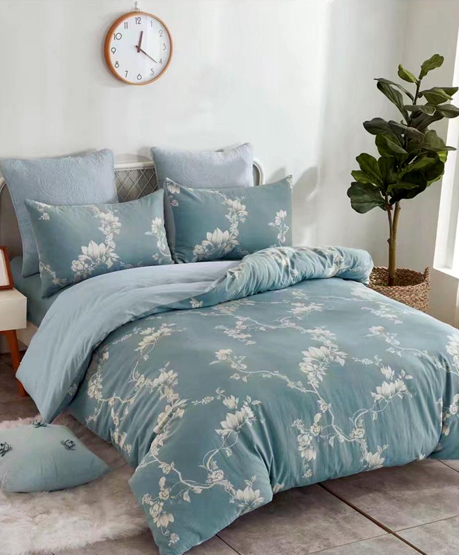 Купить Комплекты постельного белья Tango, Постельное белье Joetta (2 сп. евро), Китай, Голубой, Хлопковый сатин