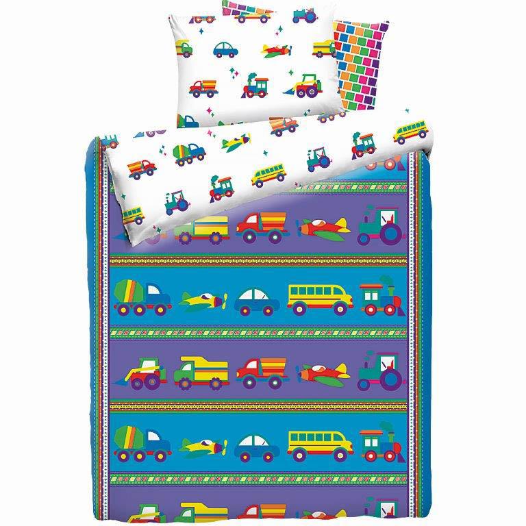 детское постельное белье Mona Liza Детское Постельное белье Машинки (145х210 см) цена