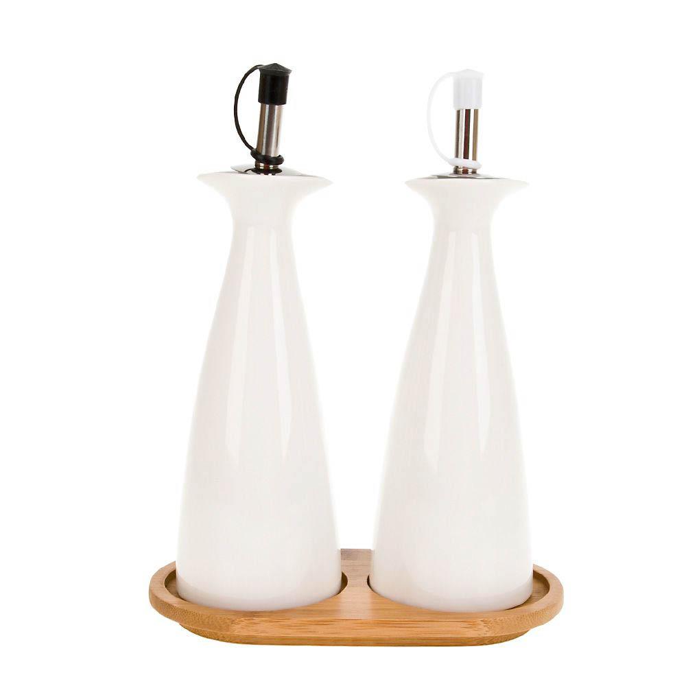 Хранение продуктов Best Home Porcelain Бутылки для уксуса и масла Naturel (16х9х20 см)