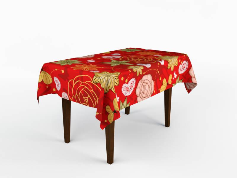 где купить Скатерти и салфетки StickButik Скатерть Цветочный Край (150х220 см) по лучшей цене