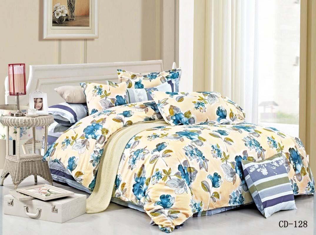 Купить Комплекты постельного белья Arlet, Постельное белье Nan (2 сп. евро), Китай, Голубой, Желтый, Хлопковый сатин