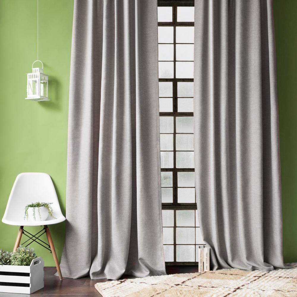 Классические шторы Baddi Цвет: Серый фото