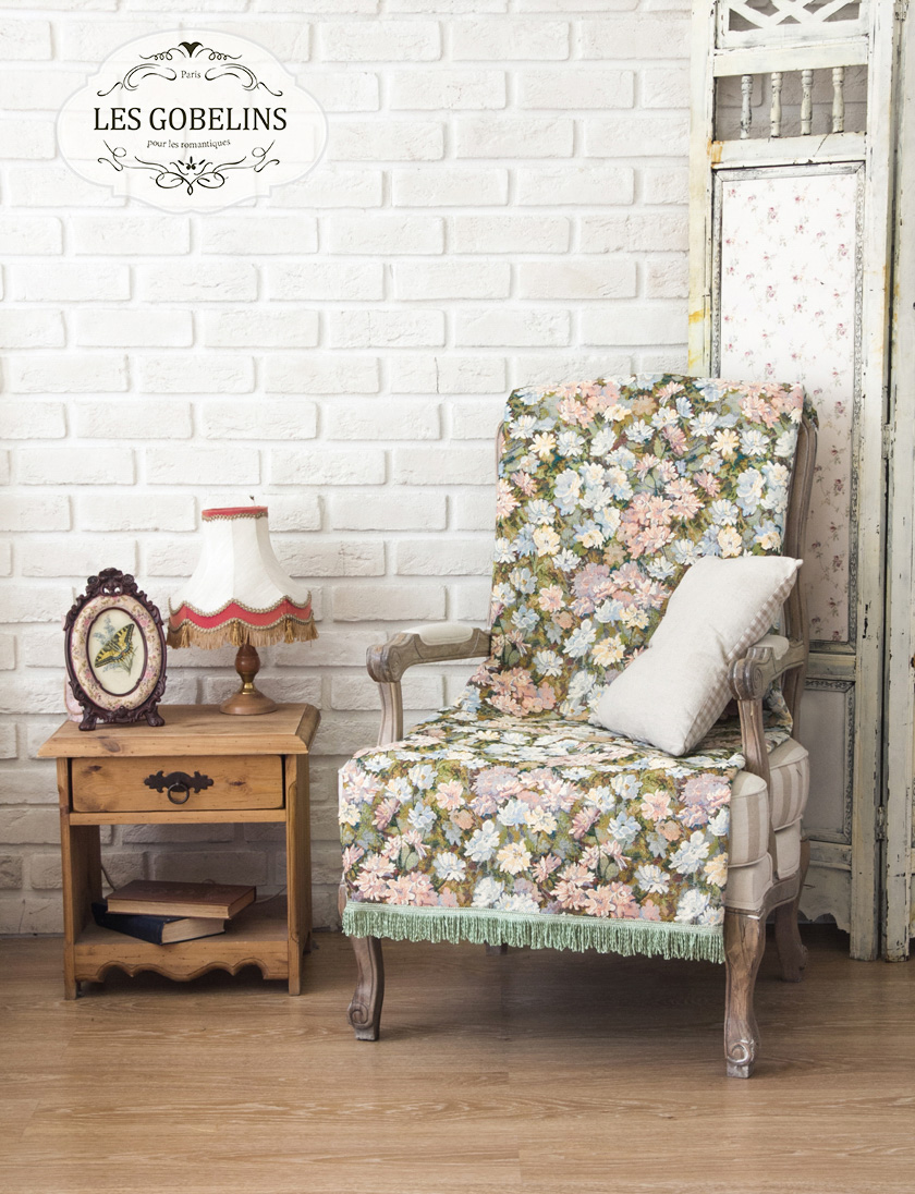 Пледы и покрывала Les Gobelins Накидка на кресло Nectar De La Fleur (70х190 см) покрывало les gobelins накидка на кресло bouquet francais 80х160 см