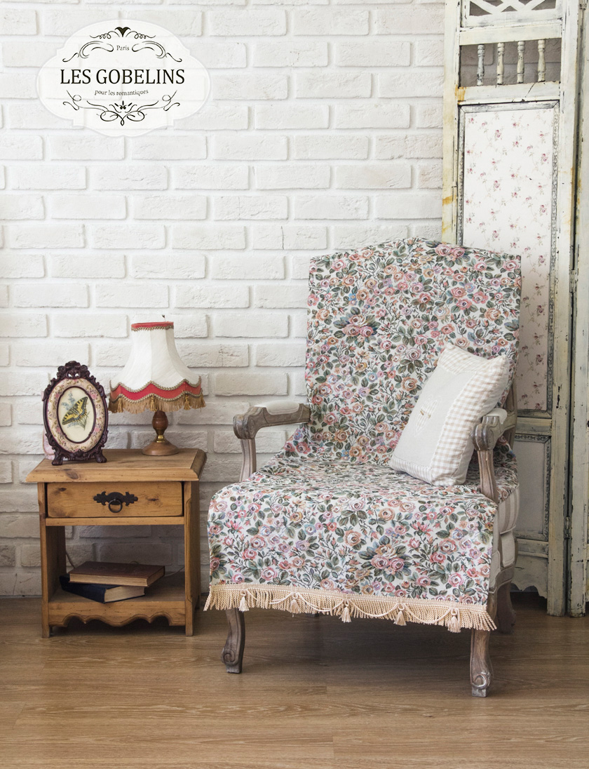 где купить Пледы и покрывала Les Gobelins Накидка на кресло Saupoudrer De Roses (70х150 см) по лучшей цене