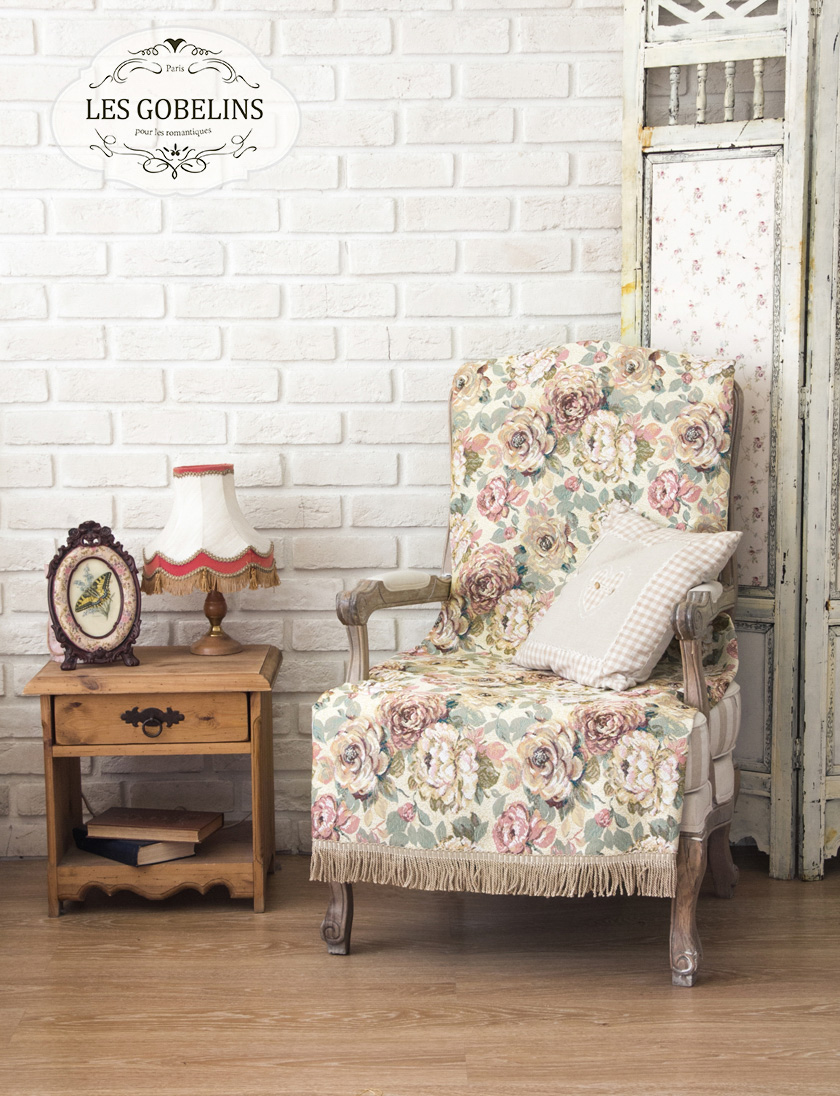 где купить Пледы и покрывала Les Gobelins Накидка на кресло Fleurs Hollandais (100х170 см) по лучшей цене