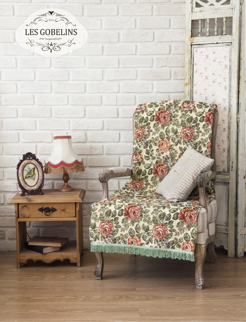 где купить Пледы и покрывала Les Gobelins Накидка на кресло Art Floral (50х120 см) по лучшей цене