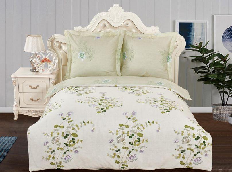 Купить Комплекты постельного белья Valtery, Постельное белье Roz (семейное), Китай, Зеленый, Хлопковый сатин