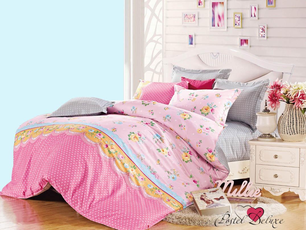 Купить Комплекты постельного белья Cleo, Постельное белье Alvar (семейное), Китай, Розовый, Серый, Хлопковый сатин