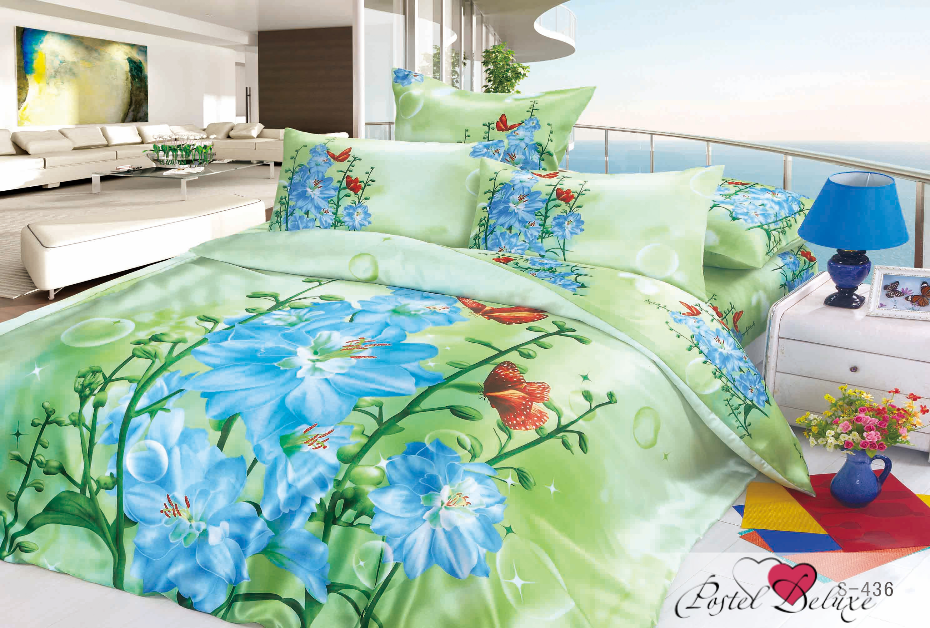 Комплекты постельного белья Cleo Постельное белье Quenna (2 сп. евро)