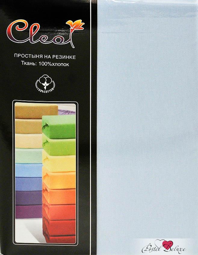 Купить Простыни Cleo, Простыня на резинкеInnesЦвет: Голубой (160х200 см), Китай, Хлопковый трикотаж