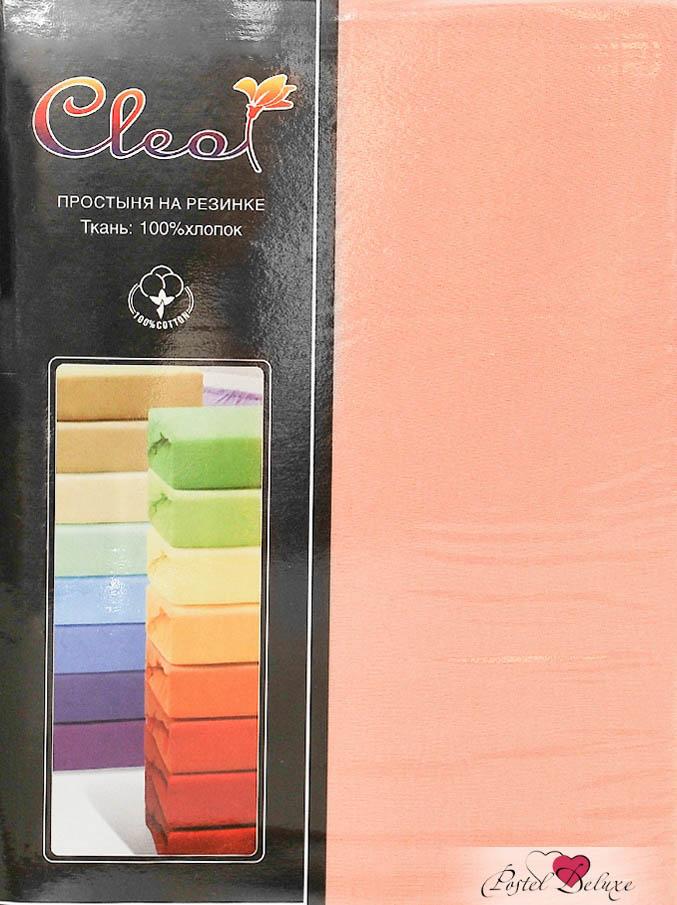 Купить Простыни Cleo, Простыня на резинкеInnesЦвет: Персик (160х200 см), Китай, Персиковый, Хлопковый трикотаж