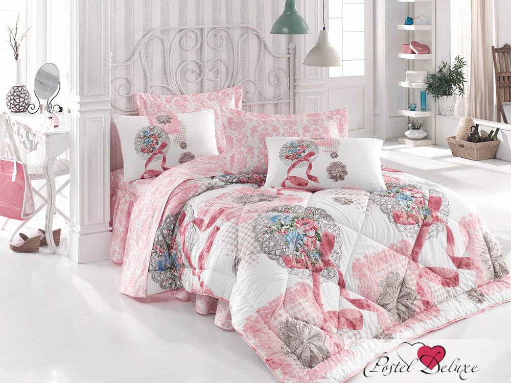 Купить Комплекты постельного белья Cotton Box, Постельное белье Destinee (2 сп. евро), Турция, Белый, Персиковый, Ранфорс