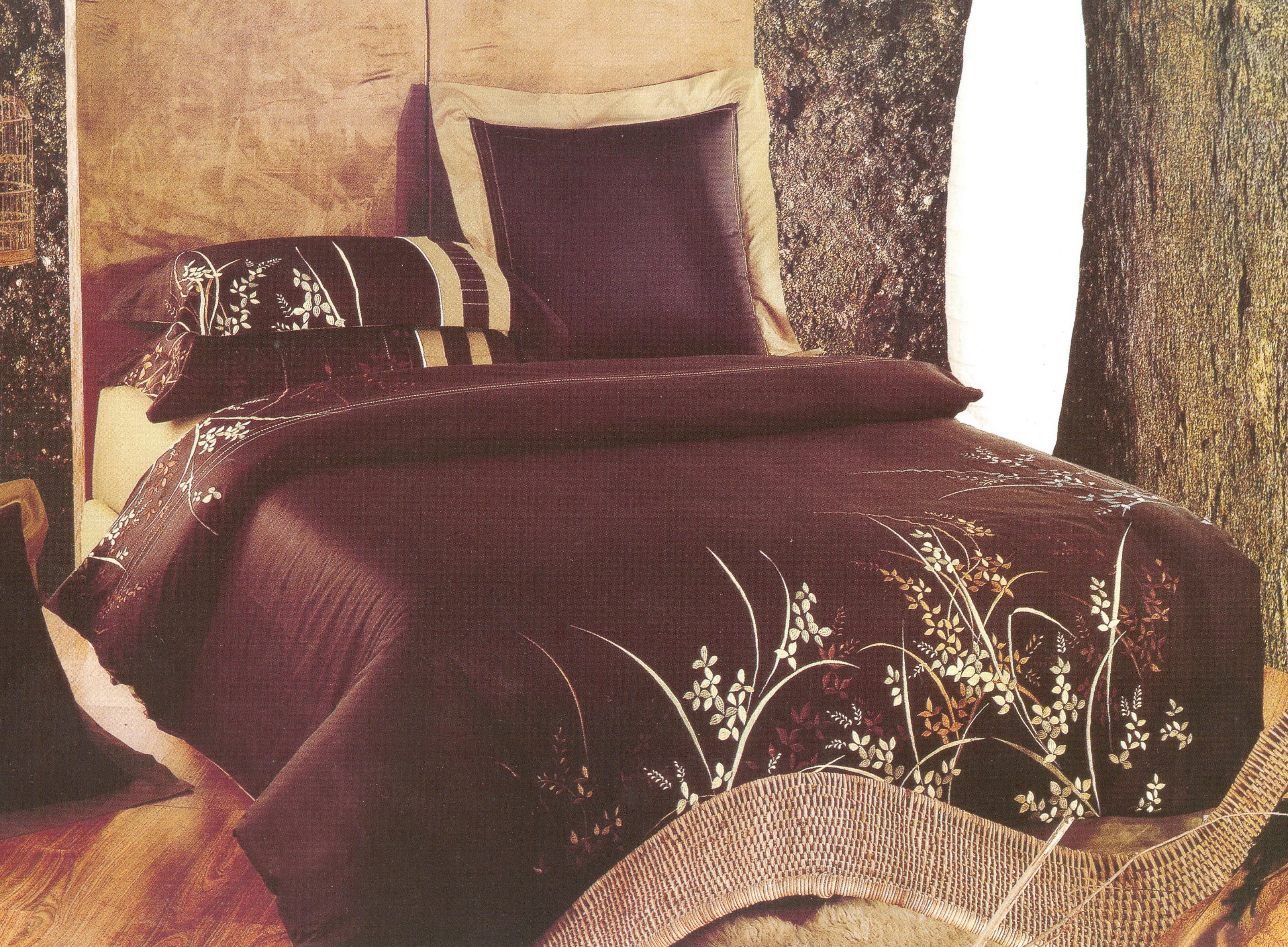 Купить Комплекты постельного белья СайлиД, Постельное белье Paloma D-32 (2 сп. евро), Китай, Коричневый, Черный, Хлопковый сатин
