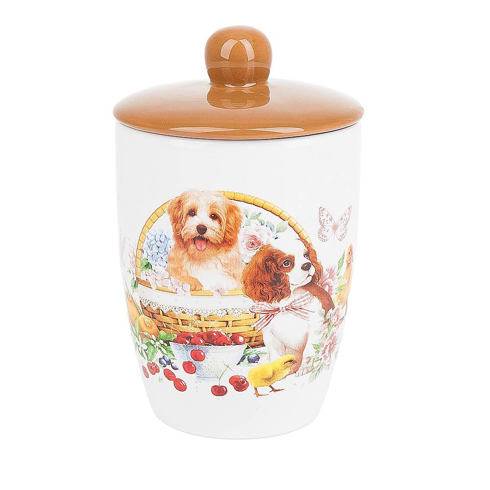 Купить Хранение продуктов Polystar, Банка для сыпучих продуктов Мимимишки (10х16 см), Китай, Бежевый, Керамика